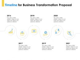 Timeline For Business Transformation Proposal 2016 To 2021 Ppt Powerpoint Layout