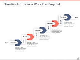 Timeline For Business Work Plan Proposal Ppt Powerpoint Presentation File Designs