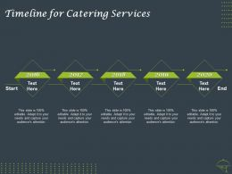 Timeline For Catering Services 2016 To 2020 Ppt Powerpoint Presentation Gallery Demonstration
