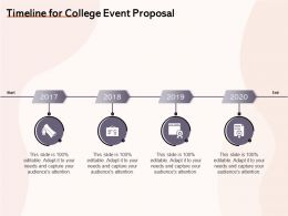 Timeline For College Event Proposal Ppt Powerpoint Presentation Ideas