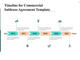Timeline For Commercial Sublease Agreement Template Ppt Infographics Elements