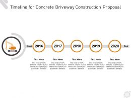 Timeline For Concrete Driveway Construction Proposal Ppt Powerpoint Presentation Styles Skills