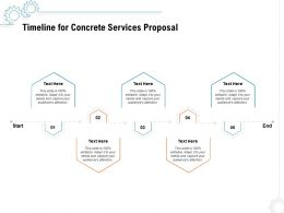 Timeline For Concrete Services Proposal Ppt Powerpoint Presentation Summary Good