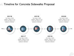 Timeline For Concrete Sidewalks Proposal Ppt Powerpoint Presentation Examples
