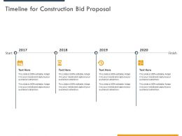 Timeline For Construction Bid Proposal Ppt Powerpoint Presentation Slides Diagrams