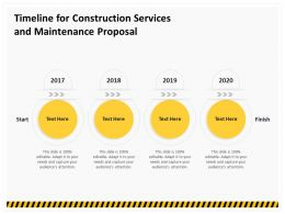 Timeline For Construction Services And Maintenance Proposal Ppt Infographics