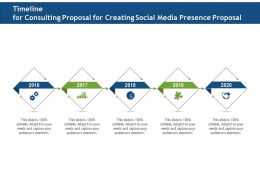 Timeline For Consulting Proposal For Creating Social Media Presence Proposal Ppt File Formats