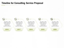 Timeline For Consulting Service Proposal Ppt Powerpoint Presentation Slides Brochure