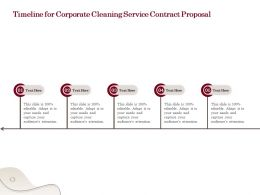 Timeline For Corporate Cleaning Service Contract Proposal Ppt Powerpoint Presentation Grid