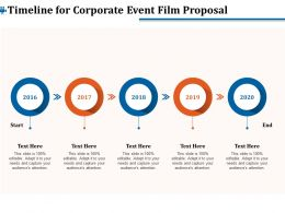 Timeline For Corporate Event Film Proposal Ppt Gallery