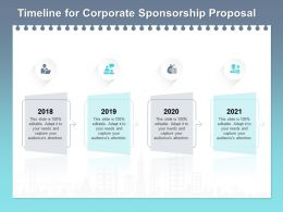 Timeline For Corporate Sponsorship Proposal Ppt Powerpoint Presentation Outfit
