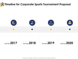 Timeline For Corporate Sports Tournament Proposal Ppt Powerpoint Presentation Icon Picture
