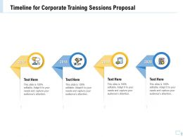 Timeline For Corporate Training Sessions Proposal Ppt Topics