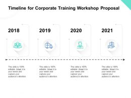 Timeline For Corporate Training Workshop Proposal Ppt Powerpoint Presentation Skills