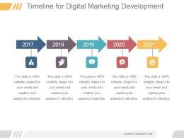 Timeline For Digital Marketing Development Ppt Slide Themes