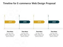 Timeline For E Commerce Web Design Proposal 2017 To 2020 Years Ppt Powerpoint Presentation Styles