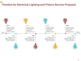 Timeline For Electrical Lighting And Fixture Service Proposal Ppt Powerpoint Presentation Infographics Styles