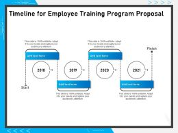 Timeline For Employee Training Program Proposal Ppt Powerpoint Presentation Icon Model