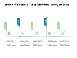 Timeline For Enterprise Cyber Safety And Security Proposal Ppt File Format Ideas