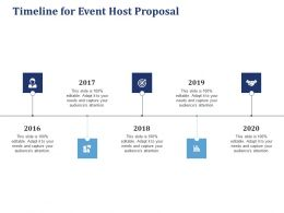 Timeline For Event Host Proposal Ppt Powerpoint Presentation Gallery Guide