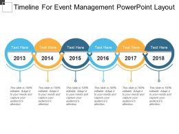 Timeline For Event Management Powerpoint Layout