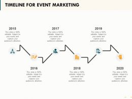 Timeline For Event Marketing Ppt Powerpoint Presentation Visual Aids Pictures