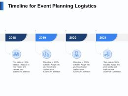 Timeline For Event Planning Logistics N126 Ppt Powerpoint Presentation File Layout
