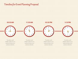 Timeline For Event Planning Proposal Ppt Powerpoint Presentation Gallery Guidelines