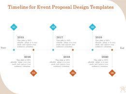 Timeline For Event Proposal Design Templates Ppt File Format Ideas