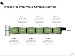 Timeline For Event Video Coverage Services Ppt Powerpoint Presentation File Example