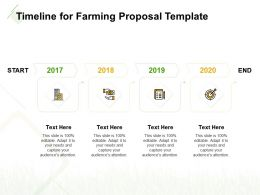 Timeline For Farming Proposal Template Ppt Powerpoint Presentation Objects
