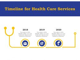 Timeline For Health Care Services Ppt Powerpoint Presentation Icon Grid