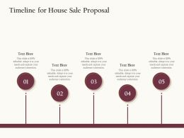 Timeline For House Sale Proposal Ppt Powerpoint Presentation Summary Format