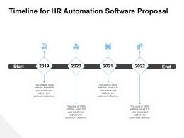Timeline For HR Automation Software Proposal Ppt Gallery