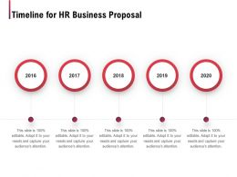 Timeline For HR Business Proposal Ppt Powerpoint Presentation Infographic