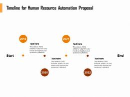 Timeline For Human Resource Automation Proposal Ppt Topics
