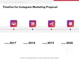 Timeline For Instagram Marketing Proposal Ppt Powerpoint Presentation Templates
