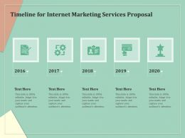 Timeline For Internet Marketing Services Proposal Ppt Gallery Portrait