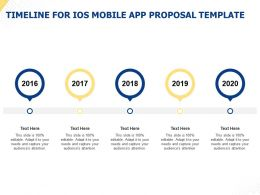Timeline For IOS Mobile App Proposal Template Ppt Powerpoint Presentation Slide Download