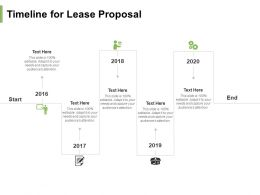 Timeline For Lease Proposal Ppt Powerpoint Presentation Infographics Tips