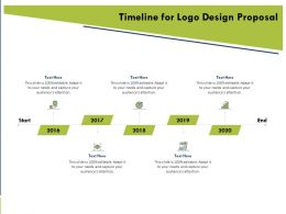 Timeline For Logo Design Proposal Ppt Powerpoint Presentation Gallery Show