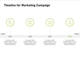 Timeline For Marketing Campaign 2017 To 2020 Years Ppt Visual Aids Example 2015