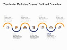 Timeline For Marketing Proposal For Brand Promotion Ppt Powerpoint Presentation Show Format Ideas