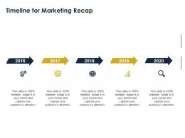 Timeline For Marketing Recap 2016 To 2020 Ppt Powerpoint Presentation Styles Guide