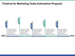 Timeline For Marketing Tasks Automation Proposal Ppt Powerpoint Presentation Example File