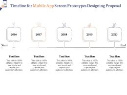 Timeline For Mobile App Screen Prototypes Designing Proposal Ppt Powerpoint Topics