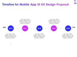 Timeline For Mobile App Ui UX Design Proposal Ppt Powerpoint Presentation Visual Aids Deck