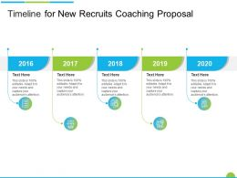 Timeline For New Recruits Coaching Proposal Ppt Powerpoint Presentation Portfolio Master Slide