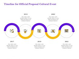 Timeline For Official Proposal Cultural Event Ppt Powerpoint Presentation Gallery Outfit