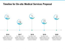 Timeline For On Site Medical Services Proposal Ppt Powerpoint Styles File